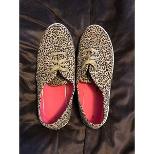 Shoes - Leopard Print Sneakers!